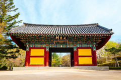 Архитектура всемирного наследия ЮНЕСКО виска Bulguksa корейская старая в Корее Стоковое фото RF