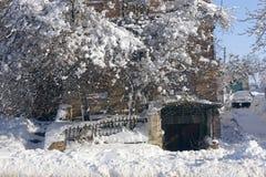 Архитектура в зиме стоковая фотография rf