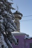 Архитектура в зиме стоковое изображение