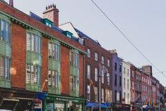 Архитектура в улицах центра города Дублина стоковые фотографии rf