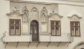Архитектура в улицах города Sopron в Венгрии стоковые изображения