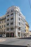 Архитектура в центре Лиссабона, Португалии Стоковые Изображения