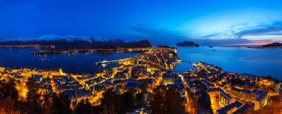 Архитектура городка Alesund в Норвегии Стоковые Изображения RF