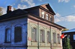 Архитектура городка Tutaev, России Поместье торгового Stepan Vagin стоковые фотографии rf