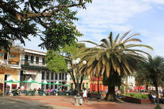 Архитектура, главный парк, ³ JericÃ, Antioquia, Колумбия Стоковое фото RF