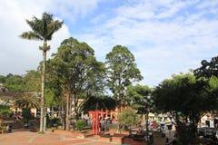 Архитектура, главный парк, ³ JericÃ, Antioquia, Колумбия Стоковые Фото