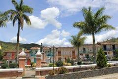 Архитектура, главный парк, ³ n ConcepciÃ, Antioquia, Колумбия Стоковое Изображение RF