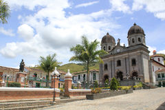 Архитектура, главный парк, ³ n ConcepciÃ, Antioquia, Колумбия Стоковое фото RF