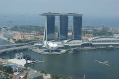 Архитектура дела Сингапура городская Стоковые Изображения