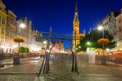 Архитектура длинной майны в Гданьске Стоковое Изображение