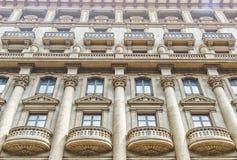 Архитектура жилого дома в Испании, городе Barcelo Стоковые Фотографии RF