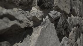Архитектура замка Кавказа Georgia стены утесов, предпосылка, конструкция акции видеоматериалы
