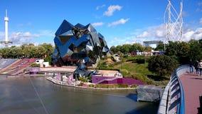 Архитектура здания на futuroscope Стоковое Изображение