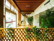 Архитектура, интерьер современной гостиницы Стоковые Фотографии RF