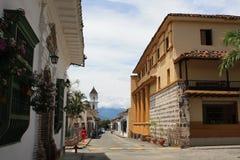 Архитектура исторического центра Санта-Фе de Antioquia, Колумбии Стоковое Изображение