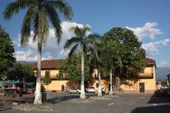 Архитектура исторического центра Санта-Фе de Antioquia, Колумбии Стоковое фото RF