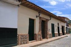 Архитектура исторического центра Санта-Фе de Antioquia, Колумбии Стоковая Фотография RF