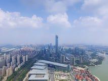 Архитектура и дороги города Китая Сучжоу стоковые фотографии rf