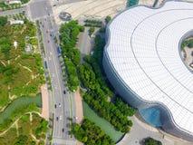 Архитектура и дороги города Сучжоу стоковое фото rf
