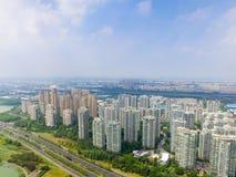 Архитектура и дороги города Сучжоу стоковое фото