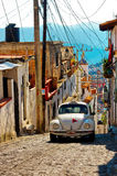 Архитектура и такси Taxco, Мексики Стоковое Изображение RF