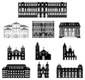 Архитектура иллюстрации вектора старая Стоковое Изображение