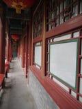 Архитектура китайского коридора Стоковая Фотография