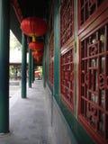 Архитектура китайского коридора Стоковая Фотография RF