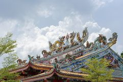 Архитектура китайского стиля крыши Стоковые Изображения RF