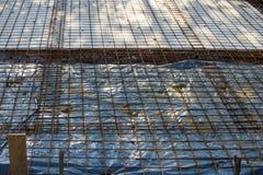 Архитектура, конструкция здания, усиливая комплект провода f Стоковые Фото