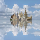 Архитектура коллажа ies Москвы 50 столетия 20 Стоковое Изображение