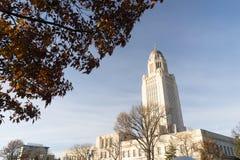 Архитектура купола правительства здания Линкольна Небраски прописная Стоковые Изображения