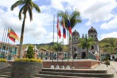 Архитектура на главном парке, ³ n ConcepciÃ, Antioquia, Колумбии Стоковая Фотография