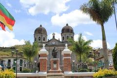 Архитектура на главном парке, ³ n ConcepciÃ, Antioquia, Колумбии Стоковые Фотографии RF