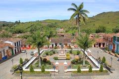 Архитектура на главном парке, ³ n ConcepciÃ, Antioquia, Колумбии Стоковое Изображение
