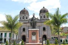 Архитектура на главном парке, ³ n ConcepciÃ, Antioquia, Колумбии Стоковое Изображение RF