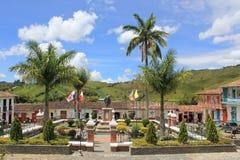 Архитектура на главном парке, ³ n ConcepciÃ, Antioquia, Колумбии Стоковые Изображения RF