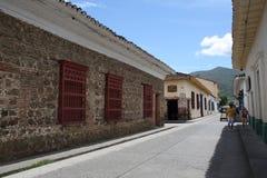 Архитектура на Санта-Фе de Antioquia, Antioquia, Колумбии Стоковое Изображение