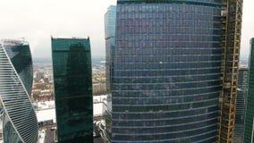 Архитектура небоскребов в городе дел офис зданий урбанский видеоматериал