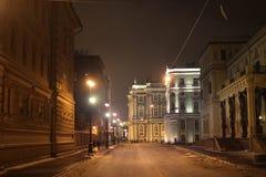 Архитектура ночи стоковая фотография rf