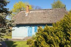 Архитектура домов в городе Nida Стоковые Изображения RF