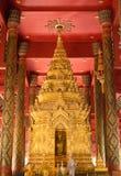 Архитектура пагоды золота тайская северная Стоковые Фото