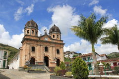 Архитектура парка ³ n ConcepciÃ, Antioquia, Колумбии Стоковое Фото