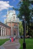 Архитектура парка Tsaritsyno в Москве Стоковые Изображения