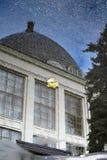 Архитектура парка VDNKH в Москве Павильон космоса Стоковая Фотография RF