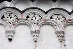 Архитектура парка VDNKH в Москве флористический орнамент Стоковое Изображение RF