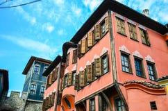 Архитектура Пловдива стоковая фотография