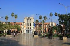 Архитектура площади Botero, MedellÃn, Колумбии Стоковое Изображение