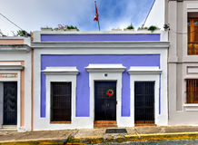 Архитектура Сан-Хуана, Пуэрто-Рико Стоковое фото RF