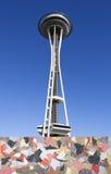 Архитектура Сиэтл футуристическая - игла космоса стоковая фотография rf